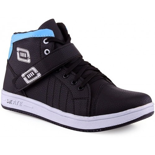 Shoeinverse Men's Black & Blue Casual Shoes