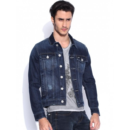 Buy Flying Machine Dark Blue Denim Jacket online | Looksgud.in