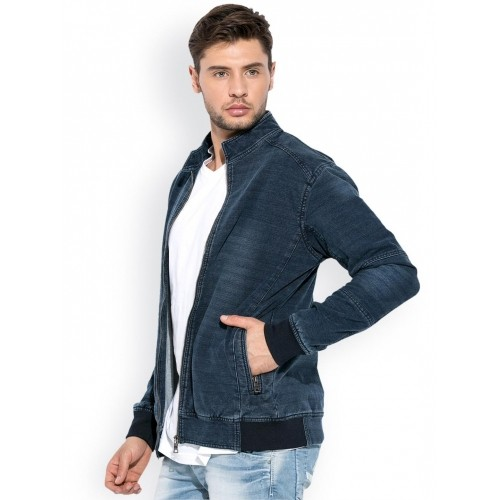 8b52bcdb66f Buy Mufti Blue Full Sleeve Denim Jacket online