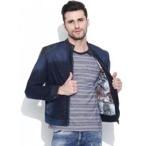 Pepe Jeans Navy Blue Washed Denim Jacket