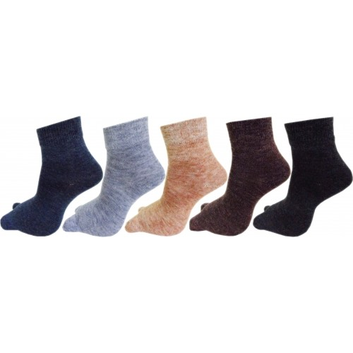RC. ROYAL CLASS MultiColor Woolen  Ankle Length Socks For Women