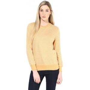 Tshirt Company Orange Full Sleeve Solid Women's Sweatshirt