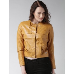 Mast & Harbour Brown Polyester Solid Jacket