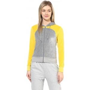 Tshirt Company Yallow & Gray Full Sleeve Solid Women's Sweatshirt