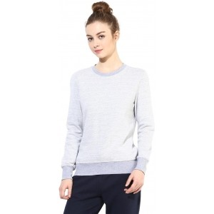 Tshirt Company Gray Full Sleeve Solid Women's Sweatshirt