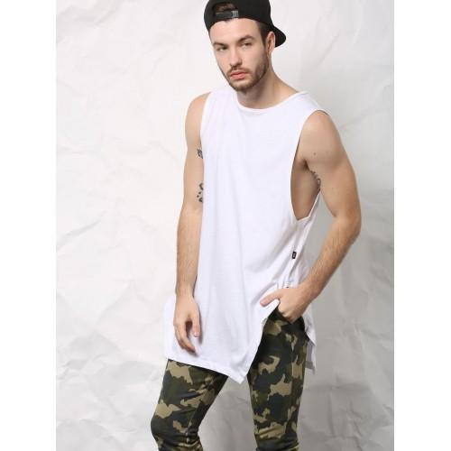 23ab15294c7c6 Buy SKULT White Longline Angular Vest online