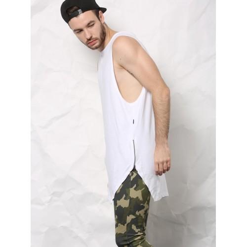 SKULT White Longline Angular Vest