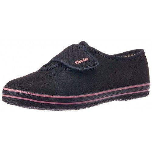 87627c6be57 Bata Women s Fitness Velcro Black Canvas Loafers and Mocassins