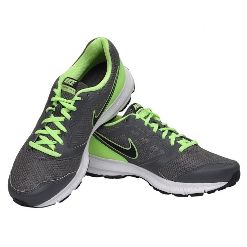 low priced 7c636 13ab3 ... Nike Men s Downshifter 6 MSL Grey and Light Green Running Shoes ...