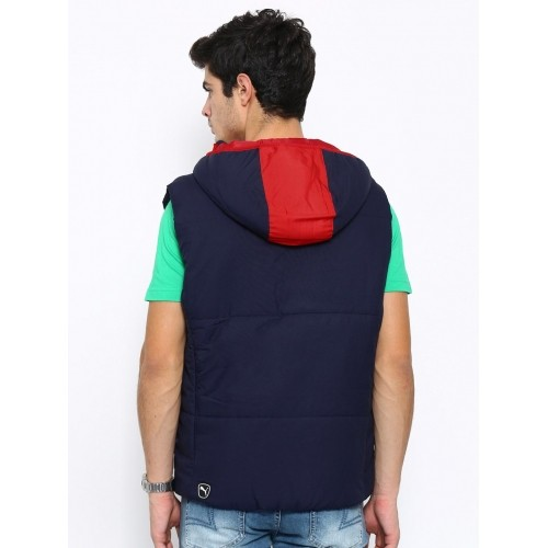 be9293c4305d Buy Puma ESS Hooded Down Vest Navy Padded Sleeveless Jacket online ...