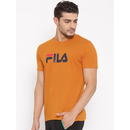 8d0c8ebdfdc0 Buy FILA Orange Eagle Printed Round Neck T-shirt For Men online ...