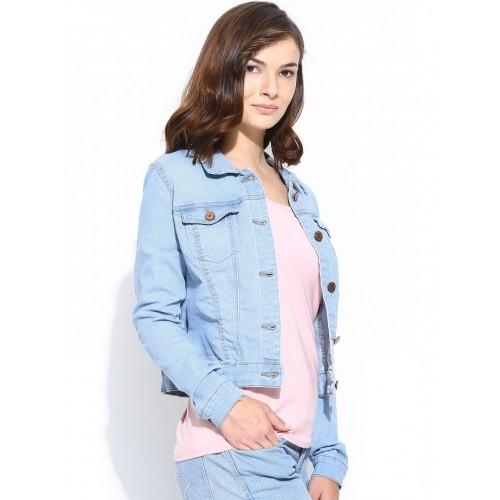 f35d3c4e11d3 Buy Vero Moda Women Light Blue Denim Jacket online