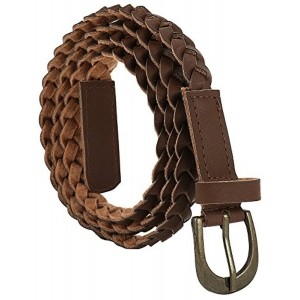 Jainsons Brown Braided Hand Made Casual Belt