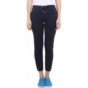Vimal Solid Women's Navy Blue Track Pants
