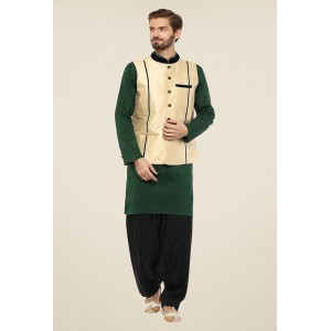 Yepme Mark Beige Solid Nehru Jacket