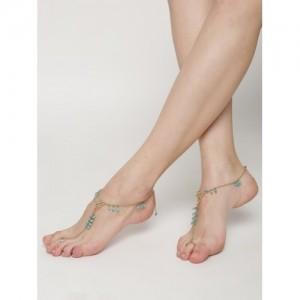 Blueberry Golden Metal Toe Anklet