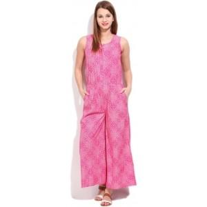 People Pink Printed Women's Jumpsuit