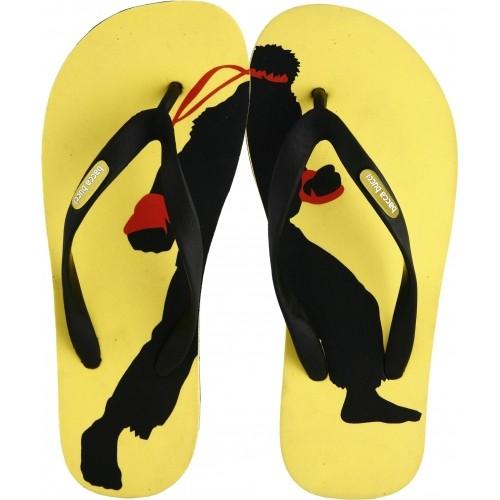 Bacca Bucci BBMD5014K Black & Yellow EVA Flip Flops