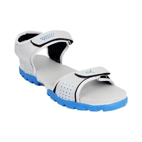 Rod Takes Grey & Blue Nubuck Leather Sandals