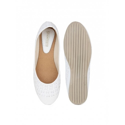Shoetopia Women White Flat Shoes