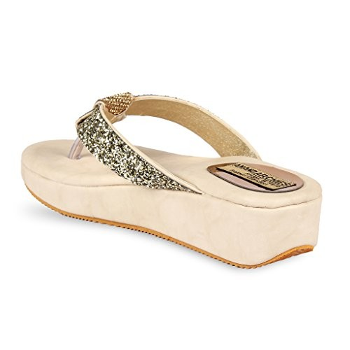 Anand Archies Beige PU Slippers
