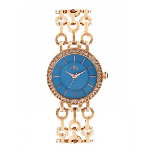 DressBerry Women Blue Stone-Studded Dial Watch DB18-B