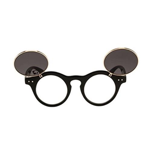 Clark n Palmer Black Round Sunglasses (CNP-Q1397)