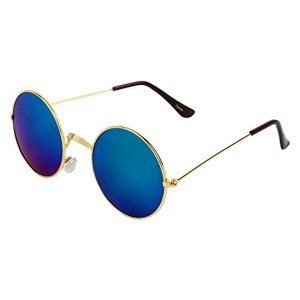 Zyaden Multicolor Mirror Round Sunglasses