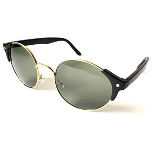 AKSHAJ Black Plastic Solid Sunglasses
