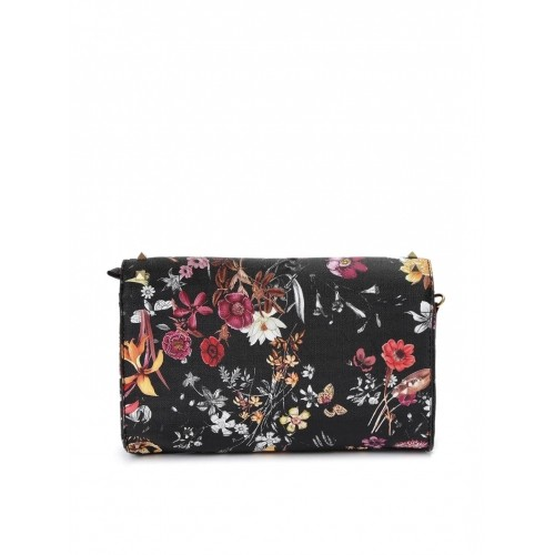 Buy Ginger by Lifestyle Black Floral Print Studded Sling Bag ...