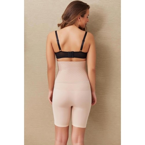 Zivame Beige Solid Cotton Shapewear