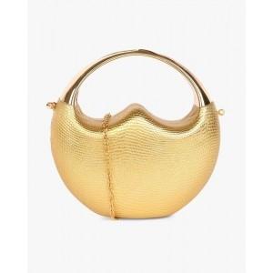 Carlton London Golden Synthetic Bridal Clutch