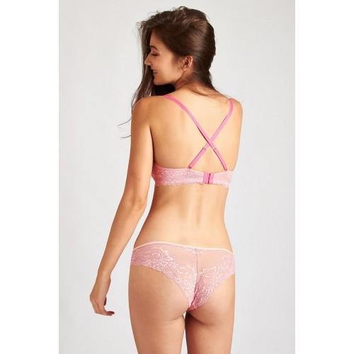 18b62b5ec634c Buy Zivame Pink Pushup Strapless Bra Wih Panty online