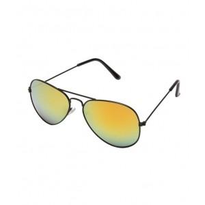 Prime Club Yellow-Gunmetal Mirror Aviator Sunglass