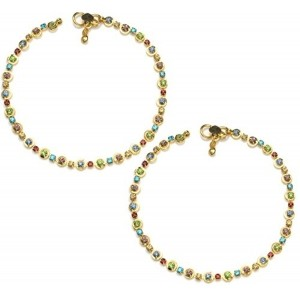 Charms Diva Diamond Studded Multicolor Anklet