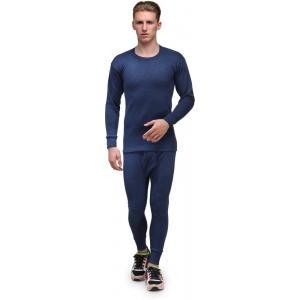 Alfa Lava Navy Blue Solid Thermal Pyjama Set