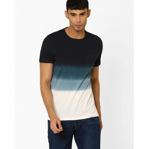 5bbbd2f22b5da4 Buy AJIO Multicoloured Ombre Men's T-shirt online   Looksgud.in