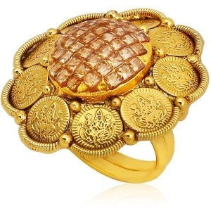 Jewels Galaxy Golden Coinage Alloy Ring