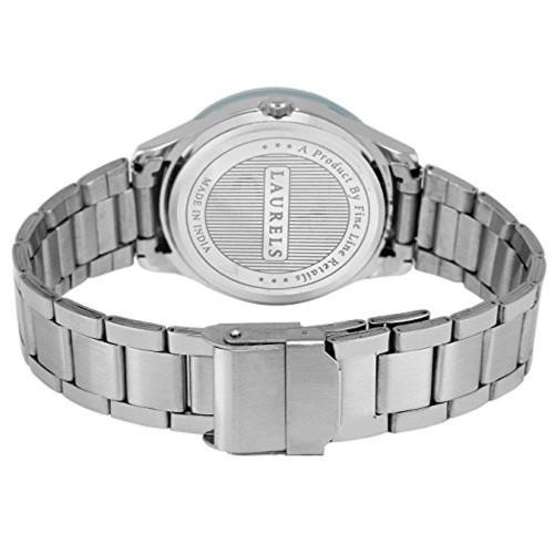 Laurels Blue Stainless Steel Analog Watch