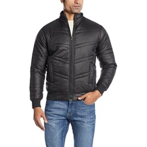 Fort Collins Men's Black Solid Nylon Jacket