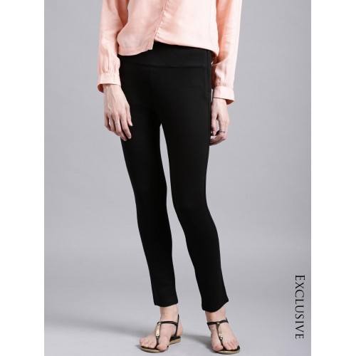 Ether Black Four-Way Stretch Women's Trousers