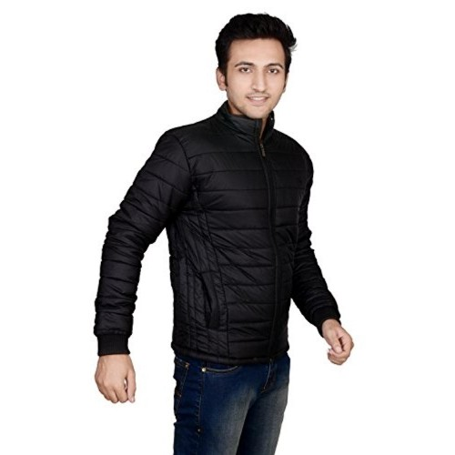 Ico Blue Star Black Solid Full Sleeve Men's Sweat Jacket