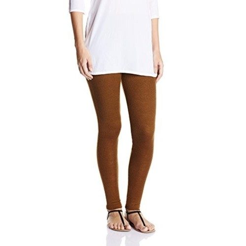 Biba Women's Brown Solid Woolen Leggings