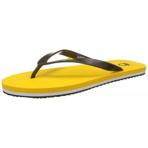 United Colors of Benetton Yellow EVA Slip On Slippers