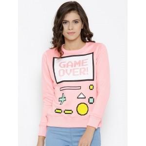 Kook N Keech Pink Printed Sweatshirt