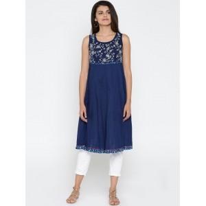 3fa9122963ee3 Buy MELANGE Sleeveless Handkerchief Hem Kurta online