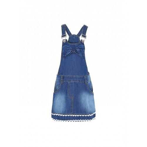 Naughty Ninos Blue Solid Girls's Dungaree