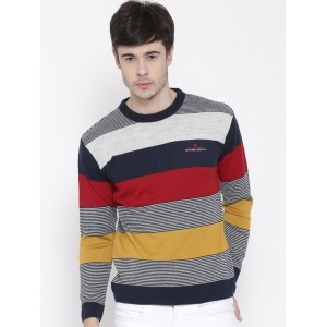 Duke Stardust MultiColor Acrylic Striped Sweater