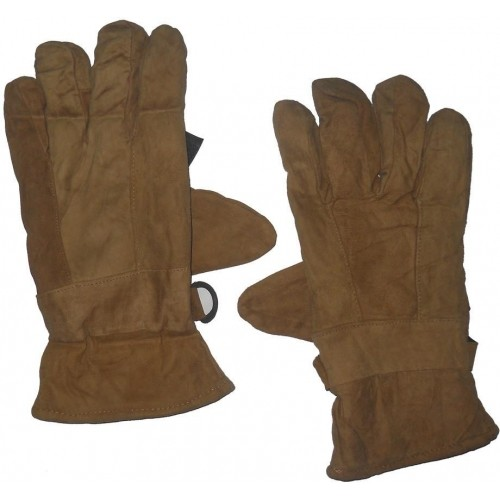 Aadishwar Creations Beige Synthetic Leather Solid Winter Gloves