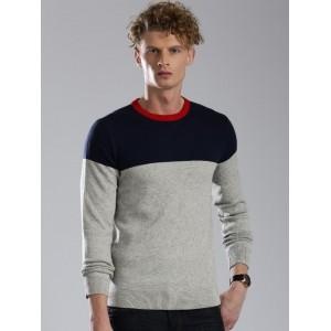 Tommy Hilfiger Grey Melange ColorBlock Sweater